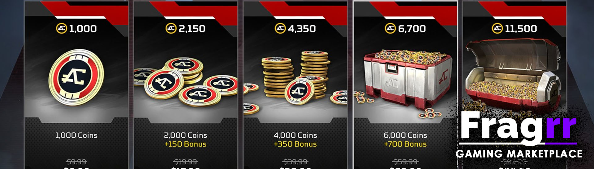 Apex Legends coins, tokens and metals