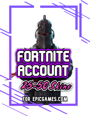 Fortnite account with 25 skins