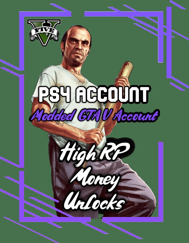 Modded GTA 5 PS4 Account