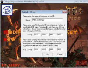 Keygen for Diablo II RoS